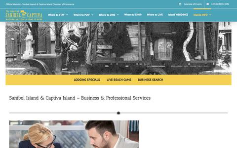 Screenshot of Services Page sanibel-captiva.org - Sanibel Island - Business - Professional Services - Sanibel Island Chamber of Commerce - captured June 23, 2017