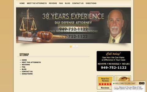 Screenshot of Site Map Page toddlandgren.com - » Sitemap - Orange County DUI Attorney   92612   Todd A. Landgren, Attorney at Law   California - captured Jan. 6, 2017