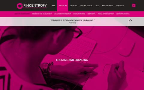 Screenshot of Case Studies Page pinkentropy.ae - Creative And Branding | What We Do | Pink Entropy - captured Dec. 9, 2015