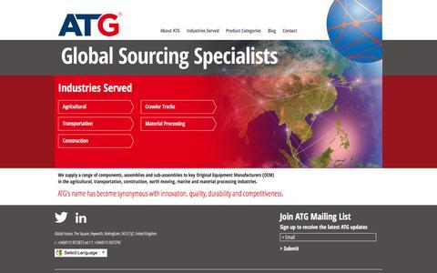 Screenshot of Home Page atg-global.com - ATG Global - ATG Global Sourcing Specialists - captured Feb. 5, 2016