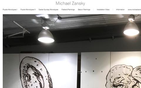 Screenshot of Home Page michaelzanskypaintings.com - Michael Zansky - captured Feb. 24, 2018