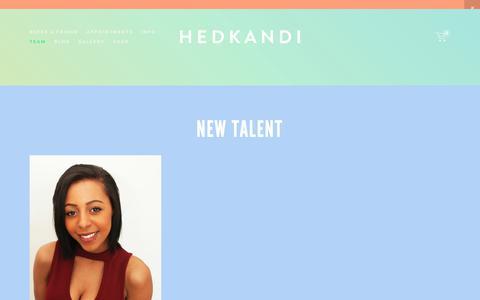 Screenshot of Team Page hedkandisalon.com - 8 Street — Hedkandi Salon - captured Sept. 28, 2018