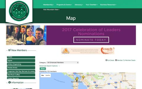 Screenshot of Maps & Directions Page chambermv.org - Map - Mountain View Chamber of Commerce, CA - captured Nov. 4, 2016