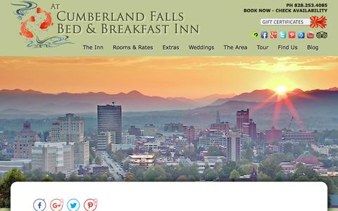 Screenshot of Contact Page Maps & Directions Page cumberlandfalls.com - Bed and Breakfast Lodging in Downtown Asheville - captured July 2, 2018