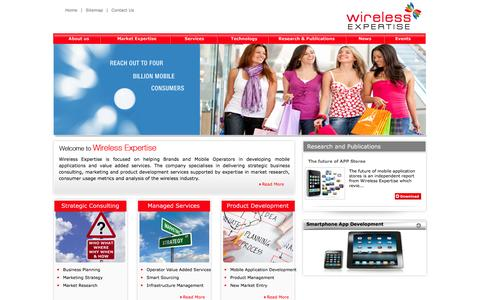 Screenshot of Home Page wirelessexpertise.com - ::Welcome To  Wireless Expertise :: - captured Jan. 28, 2015