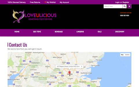 Screenshot of Contact Page loveulicious.co.uk - Loveulicious Contact Us Form - captured May 5, 2017