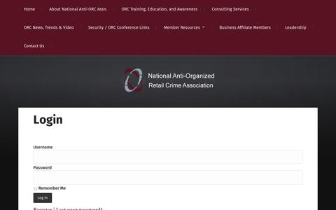 Screenshot of Login Page naorca.org - Login | N.A.O.R.C.A. - captured Oct. 7, 2014