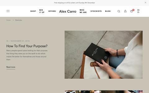 Screenshot of Blog alexcarro.com - Noticias – Alex Carro Skincare - captured Dec. 9, 2018