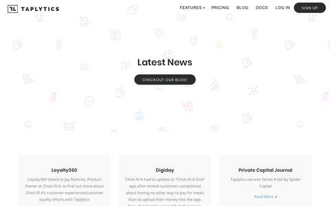 News - Taplytics