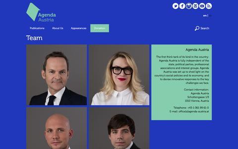 Screenshot of Team Page agenda-austria.at - Team | Agenda Austria - captured Nov. 20, 2016