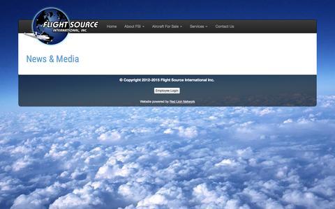 Screenshot of Blog flightsource.com - Flight Source International - captured Feb. 10, 2016