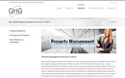 Screenshot of Services Page ghg-am.com - Commercial & Residential Property Management Company Miami - captured Jan. 29, 2017