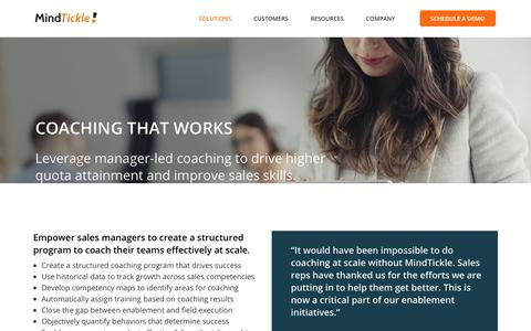 Coaching That Works | MindTickle