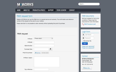 Screenshot of Support Page mworksonline.com - Music Works Distribution - Support - captured Oct. 3, 2014