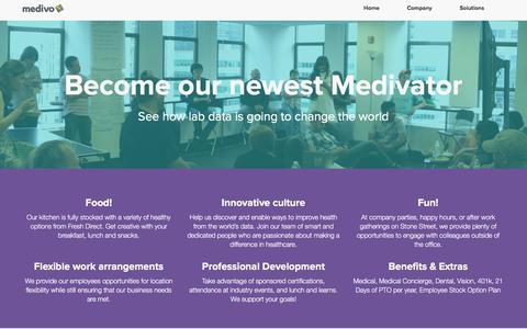 Screenshot of Jobs Page medivo.com - Careers | Medivo - captured July 4, 2016