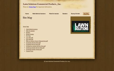 Screenshot of Site Map Page lawnsolutionscp.com - Site Map | Lawn Solutions Commercial Products , Inc. - captured Jan. 26, 2016