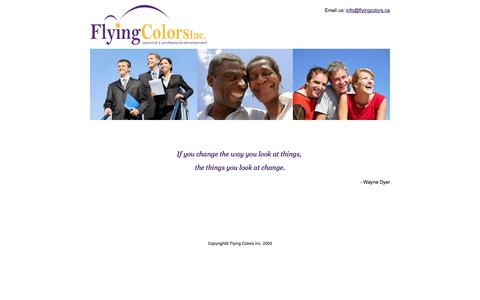 Screenshot of Home Page flyingcolors.ca - Flying Colors Conflict Management - captured Oct. 6, 2014