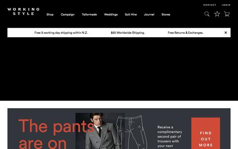 Screenshot of Home Page workingstyle.co.nz - Working Style - Shop Suits & Contemporary Menswear - captured June 14, 2017