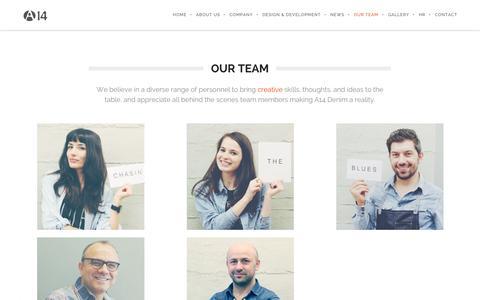 Screenshot of Team Page a14.com.tr - OUR TEAM | A14 Company - captured Oct. 4, 2014
