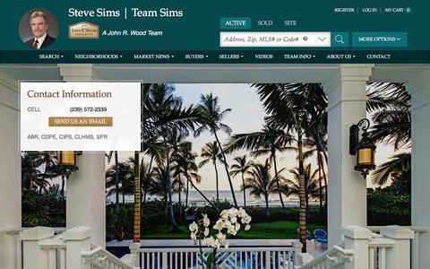 Screenshot of Home Page teamsims.com - Steve Sims   Team Sims - John R. Wood Properties - captured Feb. 12, 2016