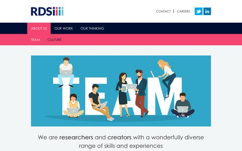Screenshot of Team Page rdsiresearch.com - Team - RDSi - captured Oct. 18, 2018