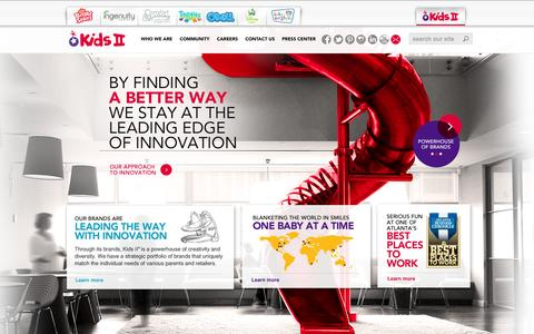 Screenshot of Home Page kidsii.com - Kids II   The industry's best ideas are born here, in a company culture full of excitement and possibility - captured Sept. 19, 2014