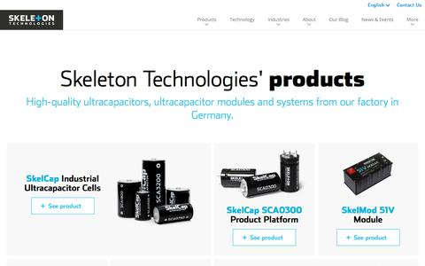 Screenshot of Products Page skeletontech.com - All Products   Skeleton Technologies - captured Jan. 5, 2020
