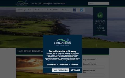 Screenshot of Press Page golfcapebreton.com - Golf Cape Breton - Press Room - captured July 24, 2015
