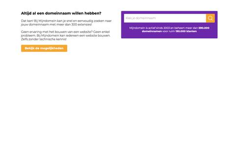 Screenshot of Home Page hanoman.nl - Domein Gereserveerd - Mijndomein.nl - captured Oct. 4, 2018