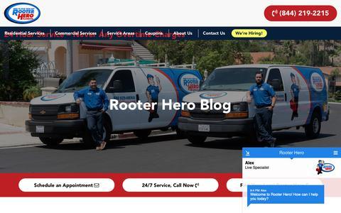 Screenshot of Blog rooterhero.com - Blog – Rooter Hero - captured Oct. 20, 2018