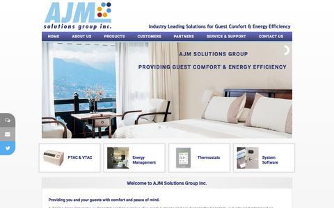 Screenshot of Home Page ajmsolutionsgroup.com - AJM Solutions Group Inc.  - Hospitality Solutions - captured Sept. 11, 2015
