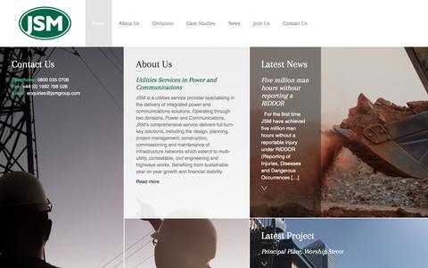 Screenshot of Home Page jsmgroup.com - JSM Group - captured July 27, 2018
