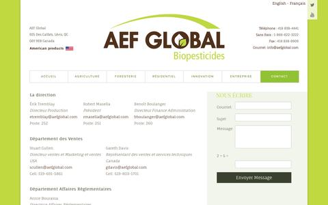 Screenshot of Contact Page aefglobal.com - AEF Global - Contact - captured May 28, 2017