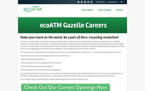 Screenshot of Jobs Page ecoatm.com - Join our team at ecoATM - captured June 28, 2017
