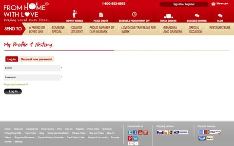 Screenshot of Login Page fromhomewithlove.com - Login - From Home With Love - captured Oct. 6, 2014