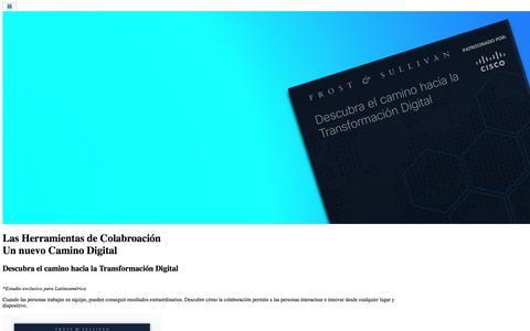 Screenshot of Landing Page cisco.com - Descubra el camino hacia la Transformación Digital - captured Oct. 2, 2016