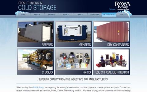 Screenshot of Products Page ravagroupcontainers.com - Products • RAVA Group Container Services - captured Oct. 9, 2014