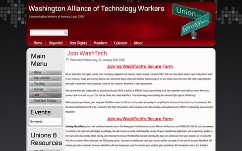 Screenshot of Signup Page washtech.org - Join - captured Oct. 7, 2014