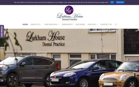 Screenshot of Home Page larkhamhouse.co.uk - Larkham House Dental Practice | NHS & Private Dentistry Plymouth - captured Sept. 27, 2018
