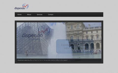 Screenshot of Home Page dispendo.com - dispendo | … envision, expand and achieve the target! - captured Sept. 30, 2014