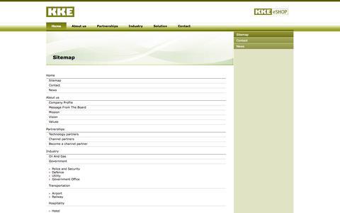 Screenshot of Site Map Page kke.ae - KKE > Sitemap - captured Sept. 30, 2014
