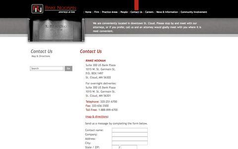Screenshot of Contact Page rinkenoonan.com - Contact Us - Rinke Noonan - captured Oct. 6, 2014