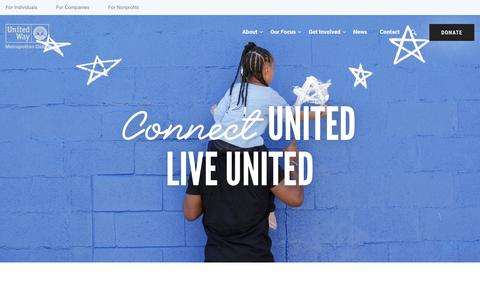 Screenshot of Contact Page unitedwaydallas.org - Contact Us | United Way of Metropolitan Dallas - captured Sept. 4, 2019