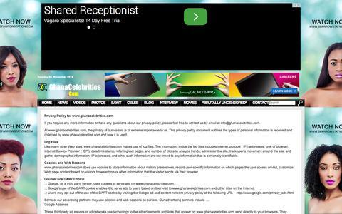 Screenshot of Privacy Page ghanacelebrities.com - Privacy - Ghanacelebrities.com - Ghanacelebrities.com - captured Nov. 4, 2014
