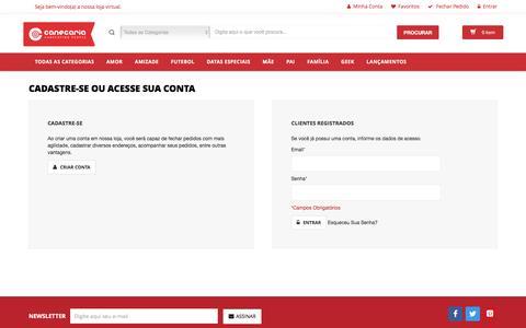 Screenshot of Login Page canecaria.com.br - Login de Cliente - captured July 11, 2016