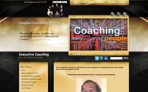 Screenshot of Home Page canadian-executive-coaching.com - Canadian Executive Coaching Toronto Ontario - London Hamilton  Mississauga Windsor Ontario - captured Sept. 27, 2014