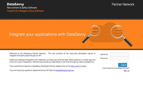 Screenshot of Developers Page datasavvy.com.au - Data Savvy Partner Program - captured Oct. 12, 2017