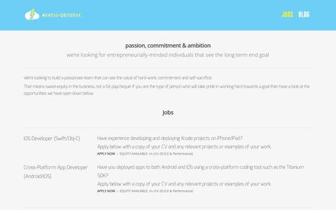 Screenshot of Jobs Page mentaluniverse.co.uk - Jobs |  Mental Universe - captured Jan. 10, 2016