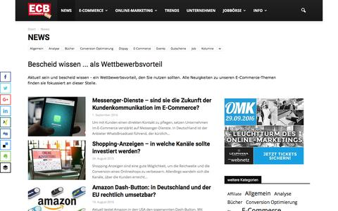 Screenshot of Press Page e-commerce-blog.de - E-Commerce News | ECB - captured Sept. 2, 2016