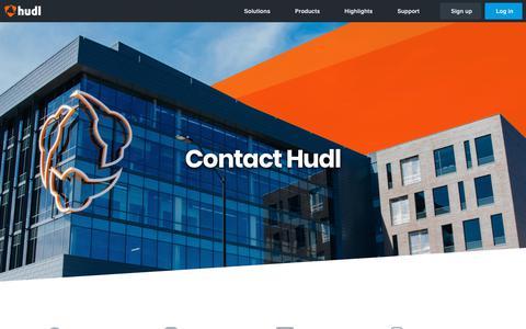 Screenshot of Contact Page hudl.com - Contact Us | Hudl - captured Feb. 5, 2019
